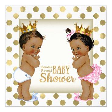 Ethnic Gender Reveal Baby Shower Card