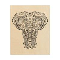 Ethnic Indian Elephant 5 Wood Wall Decor | Zazzle