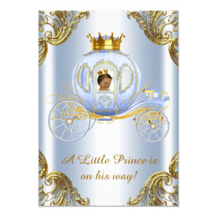 Ethnic Prince Royal Carriage Baby Shower Invitation