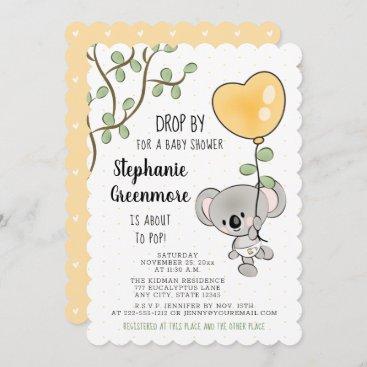 Eucalyptus Balloon Koala Bear Baby Shower