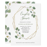 Eucalyptus Greenery | Geometric Couples Shower Invitation