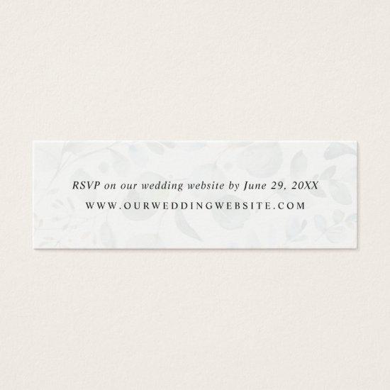Eucalyptus Greenery Wedding Website RSVP Card