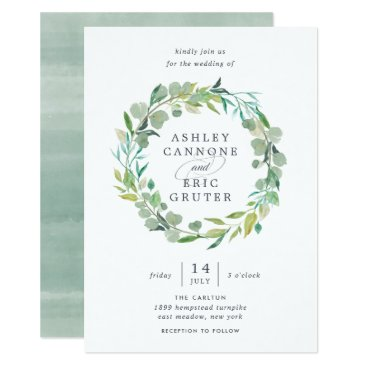 Eucalyptus Wreath Wedding Invitation