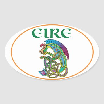 Euro Oval Ireland Car Sticker