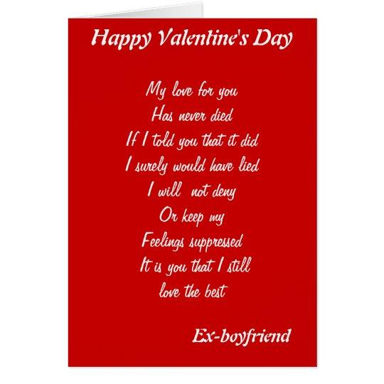 Ex Boyfriend Valentines Day Cards