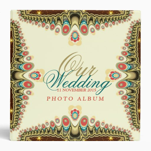Exotic Bohemian Sparkle (v2) Wedding Album Binder