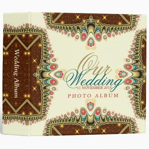Exotic Bohemian Sparkle (v2a) Wedding Album Binder