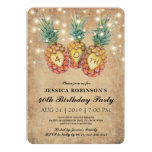 ❤️ Exotic Pineapple Tropical Forty Birthday | 40th Invitation