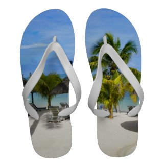 Exotic Tropical Beach Flip Flops