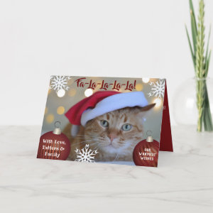 Fa-La-La-La-La Your Pets Photo Holiday Card