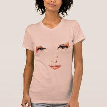 Face illustration t shirt