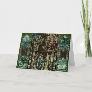 Faces of Saint Patrick Greeting Cards