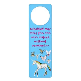 Fairies Color the Unicorn Door Hangers