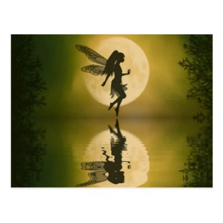 Fairy reflect postcard