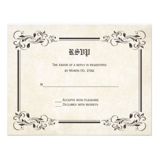 Fairytale RSVP Response Cards