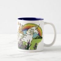 Fairytale Unicorn Two-Tone Coffee Mug