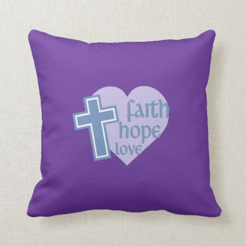 Faith Hope Love Pillow