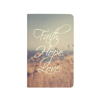 Faith. Hope. Love. Pocket Journal