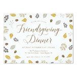 Fall Foliage Friendsgiving Dinner Party Invitation