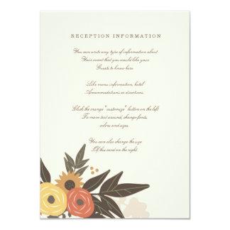 Fall Foliage Watercolor Bridal Shower Invite