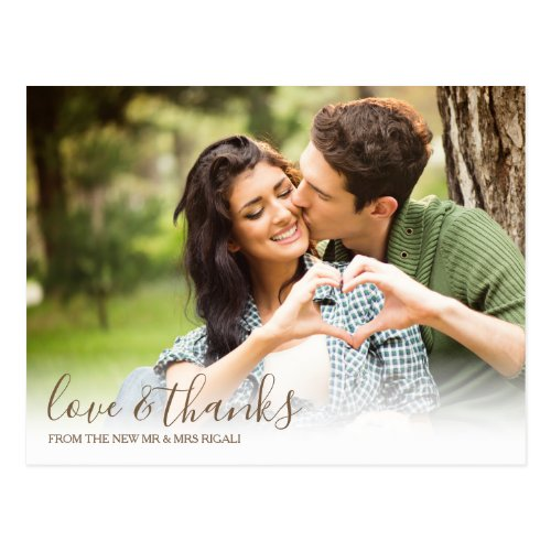 Fall Love and Thanks Picture Postcard