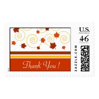 Fall Spiral Thank You !- Postage
