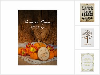 Fall Wedding Posters