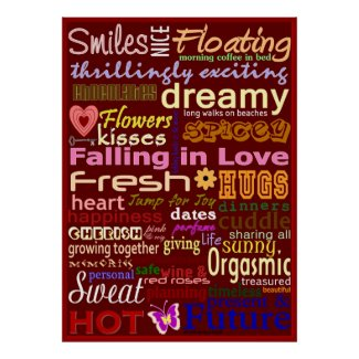 Falling in Love Word-Art Poster