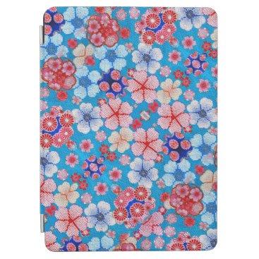 Falln Blue Cascading Floral Chirimen iPad Air Cover