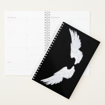 Falln White Angel Wings Planner