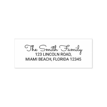 Family Name Return Address Rubber Stamp