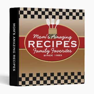 Family Recipes Personalized Vinyl Binder