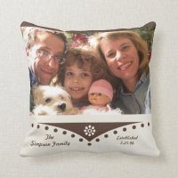 Family Throw Pillow -- Family Picture | Zazzle
