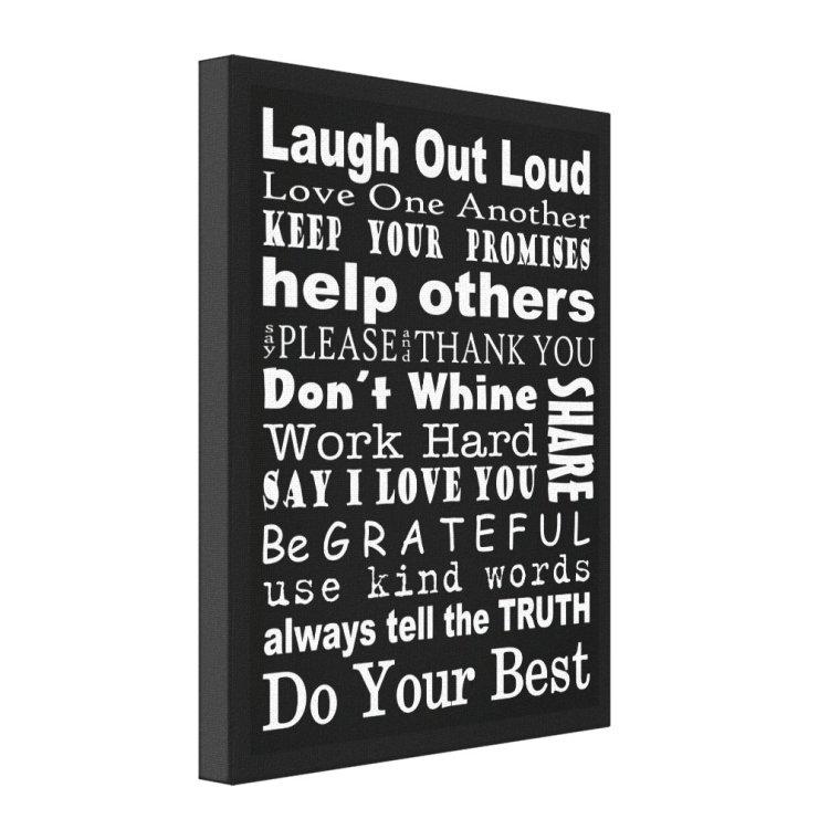 Family Values Wall Art