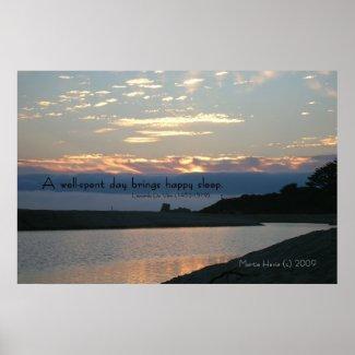 Famous Words: Sleep - Carmel Sunset - Poster