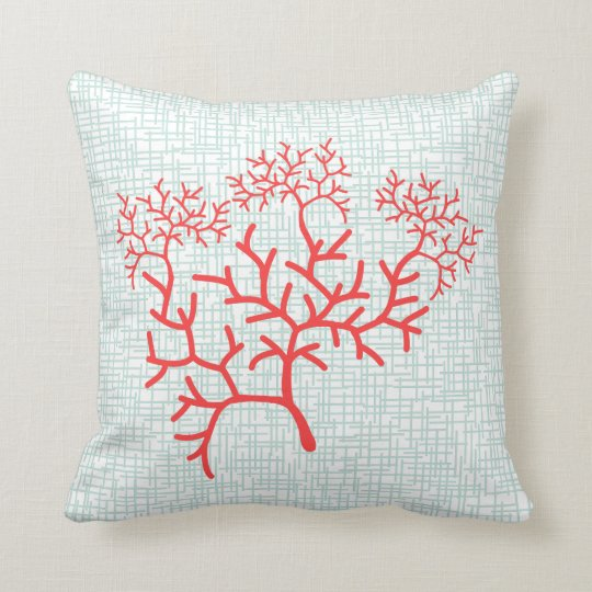 Fan Coral Designer Accent Throw Pillow  Zazzlecom