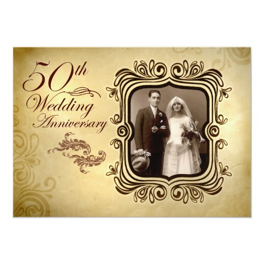 fancy 50th wedding anniversary invitations  Zazzlecom