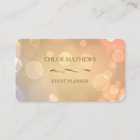 Fancy Gold Bokeh Professional Business Card