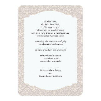Fancy Swirl Second Marriage Wedding Invitations
