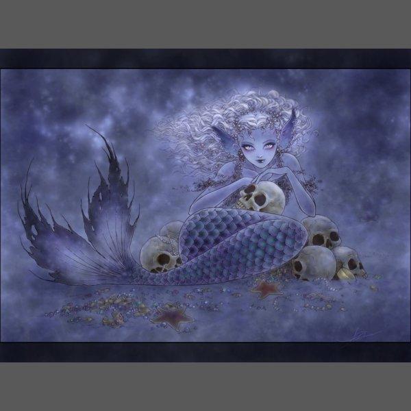 Evil Mermaid Fantasy Art