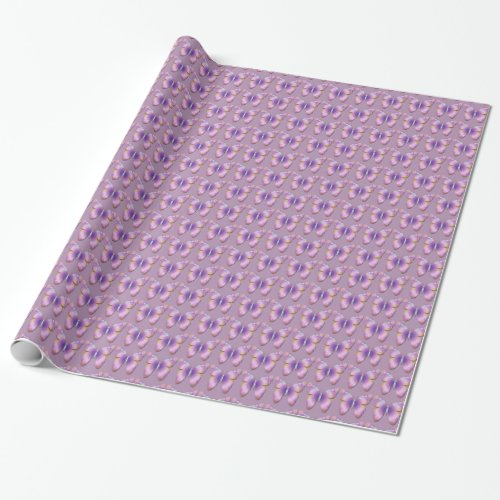 Fantasy Butterfly Tiled Wrapping Paper