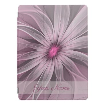 Fantasy Flower Abstract Plum Floral Fractal Name iPad Pro Cover
