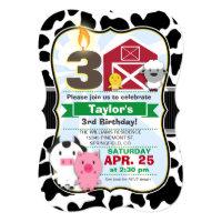 Farm Animal Kids Birthday Party Card