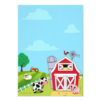 Farm Animals Baby Shower Invitations