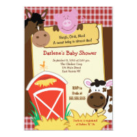 Farm Babies 5x7 Baby Shower Invitation