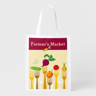 Farmer's Market Reusable Shopping Bag Market Tote