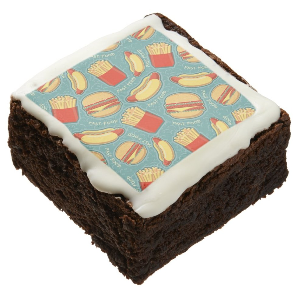 Fast Food Pattern 3 Chocolate Brownie
