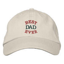 Father's Day Best Dad Embroidered Hat