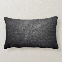 Faux Black Leather Pillows - Decorative & Throw Pillows ...