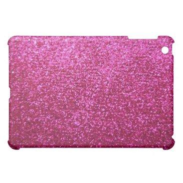 Faux Hot Pink Glitter iPad Mini Cover